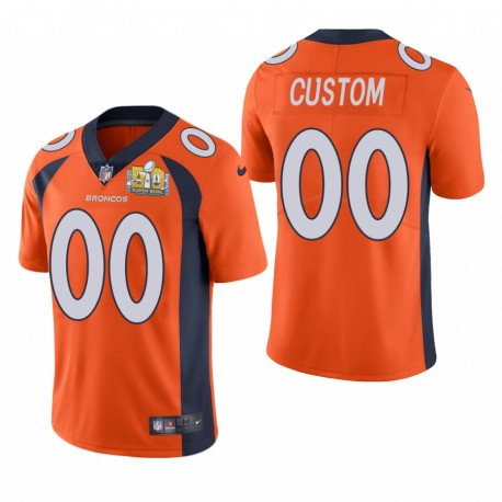PERSONALISIERENE Super Bowl 50 Patch Trikot Broncos Orange Dampf Limited