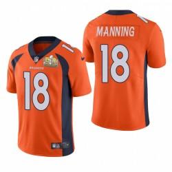 Peyton Manning Super Bowl 50 Patch Trikot Broncos Orange Dampf Limited