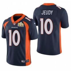 Jerry Jeudy Super Bowl 50 Patch Trikot Broncos Navy Dampf Limited