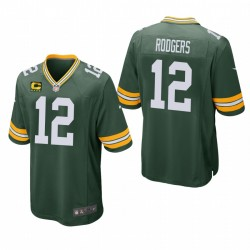 Aaron Rodgers Captain Patch Trikot Packer Green SPIEL