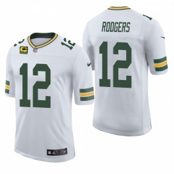 Packer Aaron Rodgers Trikot White Captain Patch Classic Limited