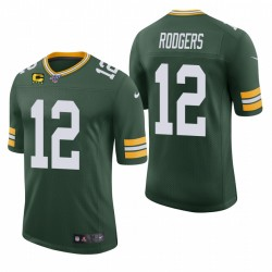 Packer Aaron Rodgers Trikot Green Captain Patch Classic Limited