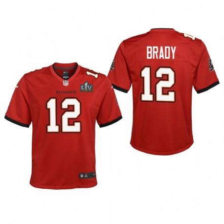 Jugend Tom Brady Trikot Super Bowl LV Buccaneers Rotspiel