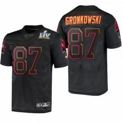Rob Gronkowski Super Bowl LV Trikot Buccaneers Schwarz