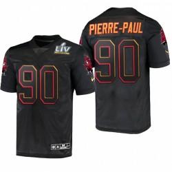 Jason Pierre-Paul Super Bowl LV Trikot Buccaneers Schwarz