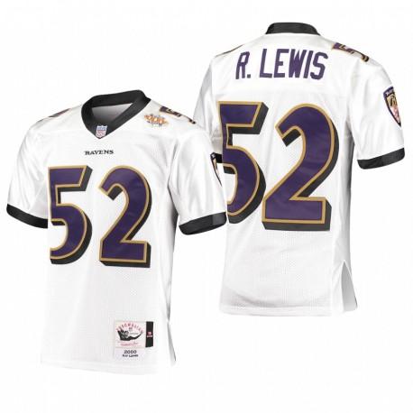 Ray Lewis Trikot Ravens 2000 Legacy Replica Weiß Throwback