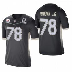 Orlando Brown Jr. Trikot Ravens 2021 AFC Pro Bowl SPiel Anthrazit