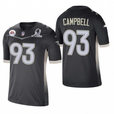 Calais Campbell Trikot Ravens 2021 AFC Pro Bowl SPiel Anthrazit
