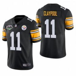 Chase Claypool Super Bowl XLIII Patch Trikot Steelers Schwarz Vapor Limited