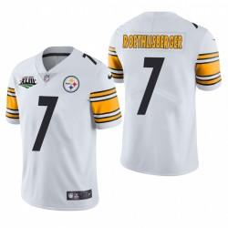 Ben Roethlisberger Super Bowl XLIII Patch Trikot Steelers Weiß Dampf Limited