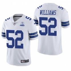 Cowboys Connor Williams Trikot Weiß 60. Jubiläumsdampf Limited