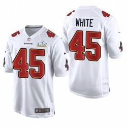 Devin Weiß Super Bowl LV Trikot Buccaneers Weiß Spiel Mode