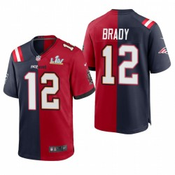Buccaneers Tom Brady Super Bowl LV Champions Trikot Split Rot Navy Spiel