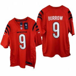Joe Burrow 2021 Spiel Trikot Bengals Orange