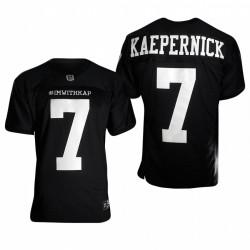 Colin Kaepernick im mit KAP Trikot 49ers Schwarz
