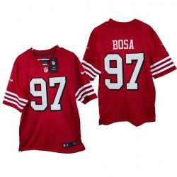 Nick Bosa 2021 Spiel Trikot 49ers Scarlet Throwback