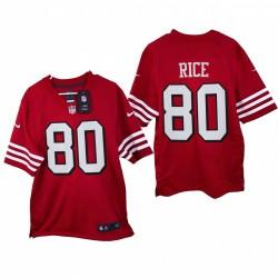 Jerry Rice 2021 Spiel Trikot 49ers Scharlachrot