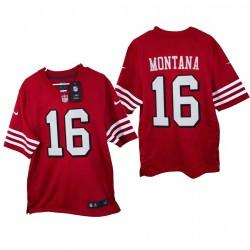 Joe Montana 2021 Spiel Trikot 49ers Scarlet Throwback