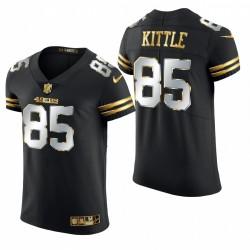49ers George Kittle Golden Edition Trikot Schwarz Elite