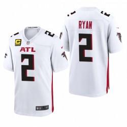Matt Ryan Captain Patch Trikot Falcons Weiß Spiel