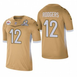 Aaron Rodgers Trikot Packer 2021 NFC Pro Bowl SPIEL GOLD