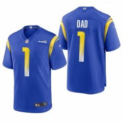 Rams 2021 Vaters Tag Nummer 1 Dad Trikot Royal Spiel
