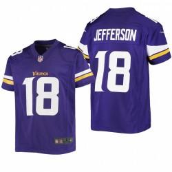 Jugend Justin Jefferson Trikot Vikings lila Spiel