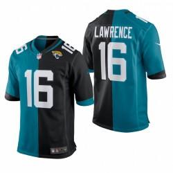 Trevor Lawrence 2021 NFL Draft Split Trikot Jaguare Teal Schwarz SPIEL
