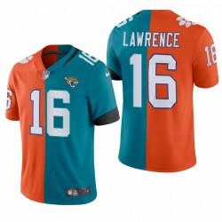 2021 NFL Draft Trevor Lawrence Split Trikot Jaguare Teal Orange Dampf Limited