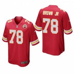 Chiefs Orlando Brown Jr. Spiel Trikot Rot