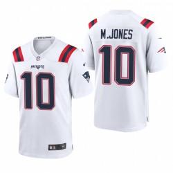 Mac Jones NFL Draft Patrioten Trikot Weiß Spiel