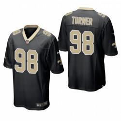 Payton Turner NFL Draft Saints TRIKOT SCHWARZ SPIEL