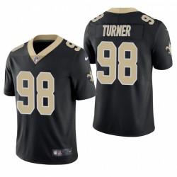 NFL Draft Payton Turner Trikot Saints Schwarz Dampf Limited