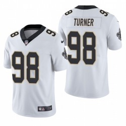 NFL Draft Payton Turner TRIKOT SAINTS WEIß DAMPOR LIMITED
