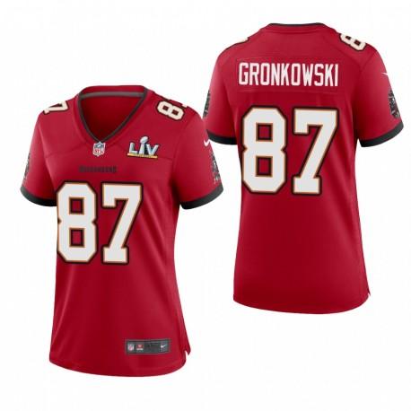 Frauen Rob Gronkowski Super Bowl Lv Trikot Buccaneers Rotspiel