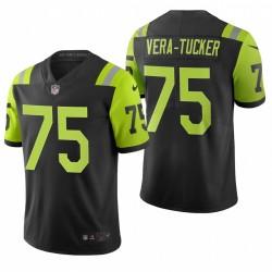 Alijah Vera-Tucker NFL Draft Trikot Jets Schwarz City Edition