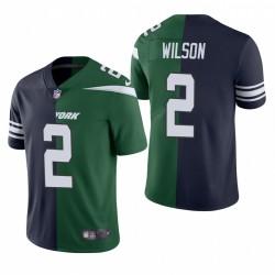 NFL Draft Zach Wilson Split Trikot Jets Navy Green Dampf Limited