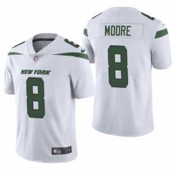 NFL Draft Elijah Moore Trikot Jets Weiß Dampf Limited