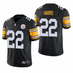 Najee Harris Pittsburgh Steelers Schwarz 2021 NFL Entwurf Dampf Begrenzte Trikot