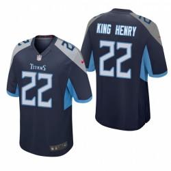 Derrick Henry-Spitznamen König Henry Trikot Titans Navy Spiel