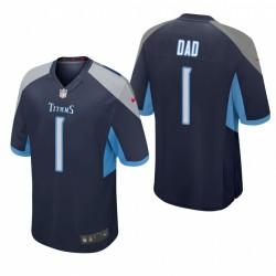 Titanen-Väter Tag Nummer 1 Dad Trikot Navy Spiel