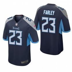 Caleb Farley NFL Draft Titans Trikot Navy Spiel