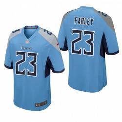 Caleb Farley NFL Draft Titans Trikot hellblauer Spiel