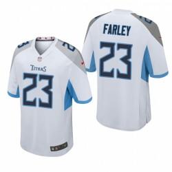 Caleb Farley NFL Draft Titans Trikot Weiß Spiel