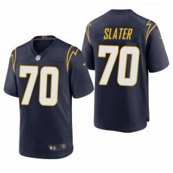 Rashawn Slater NFL Draft Ladegeräte Trikot Navy Alternative Spiel