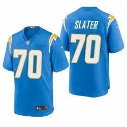 Rashawn Slater NFL Draft Ladegeräte Trikot Pulver Blue SPiel