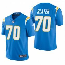 NFL Draft Rashawn Slater Trikot Ladegeräte Pulver Blue Dampf Limited