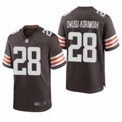 Jeremiah Owusu-Koramoah NFL Draft Browns Trikot Brown SPiel