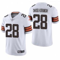 NFL Draft Jeremiah Owusu-Koramoah Trikot Browns Weiß Dampf Limited