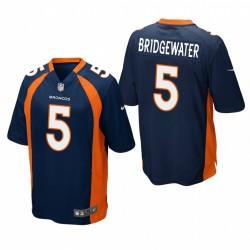 Broncos teddy bridgewater spiel trikot navy